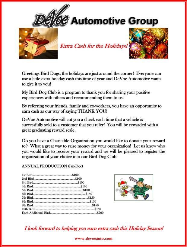 holiday program template